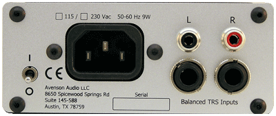 headphone amp back